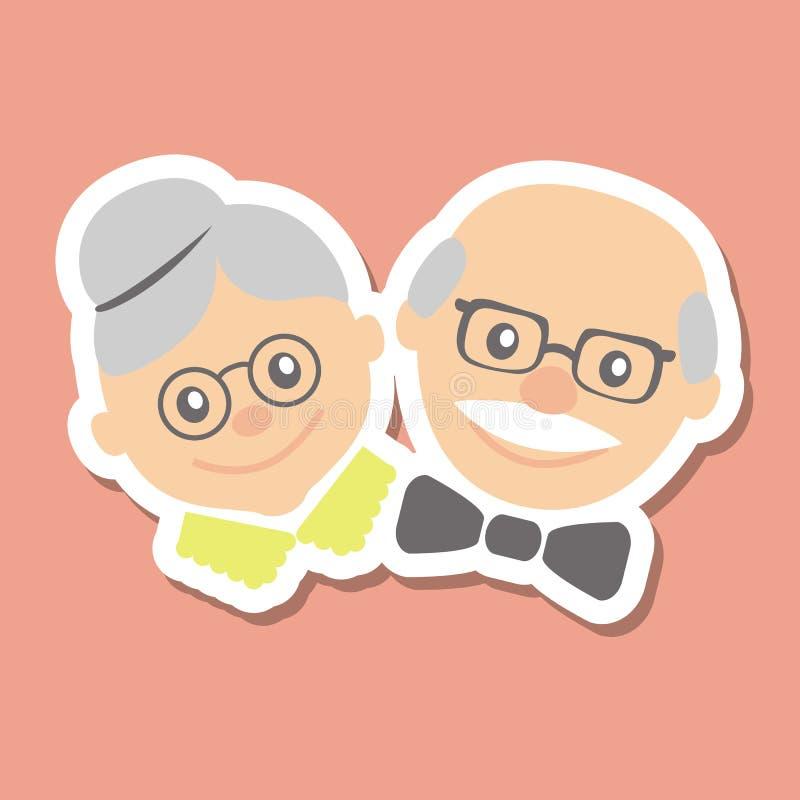 också vektor för coreldrawillustration Lycklig morförälderdag royaltyfri illustrationer