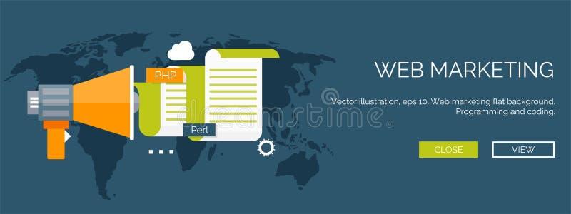 också vektor för coreldrawillustration Plan bakgrund Kodifiera som programmerar SEO runt om begreppsmässig motorbild för oklarhet vektor illustrationer