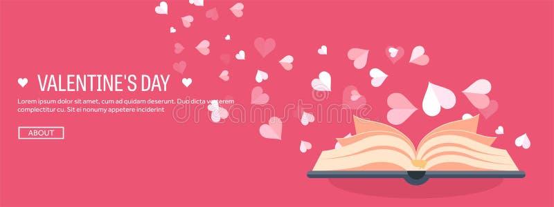 också vektor för coreldrawillustration Plan bakgrund med boken dekorativ hjärtaillustrationförälskelse red steg var min valentin  stock illustrationer