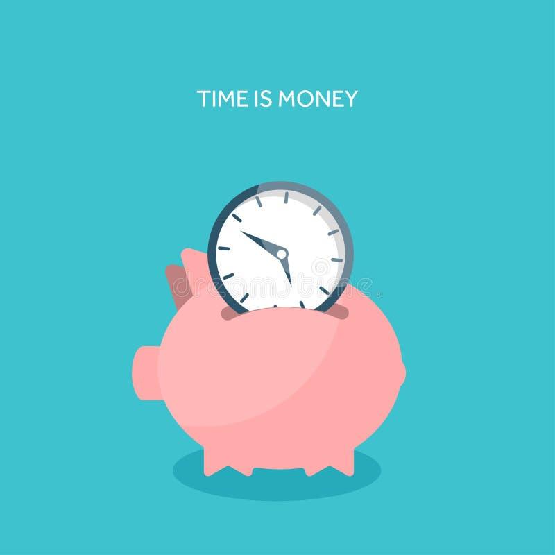 också vektor för coreldrawillustration Plan sparande pengarbegreppsbakgrund gruppen coins piggy stock illustrationer