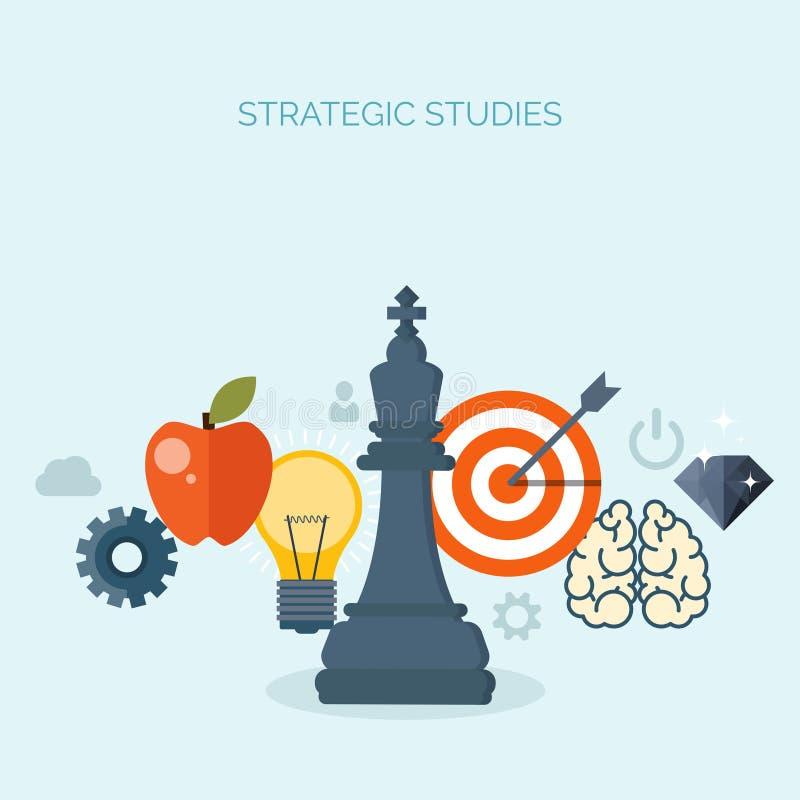 också vektor för coreldrawillustration schack Ledningprestationer Smarta lösningsaffärssyften Utveckling av idéer Planläggningsst stock illustrationer