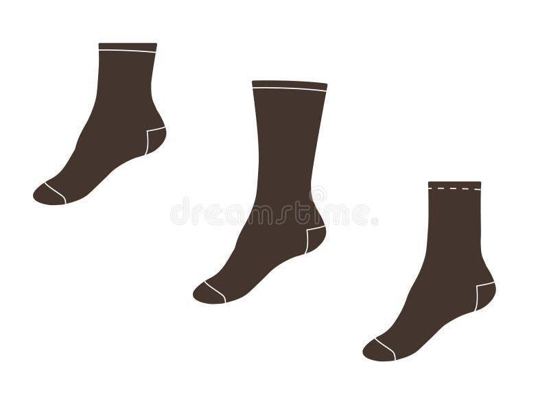också vektor för coreldrawillustration ställ in sockor vektor illustrationer