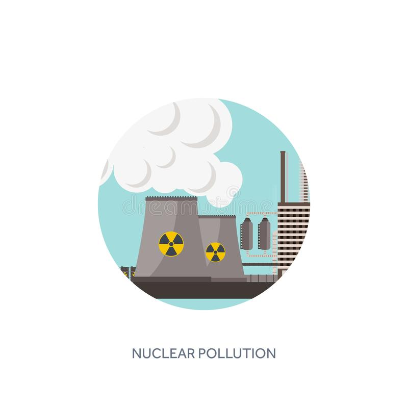 också vektor för coreldrawillustration Urbanisationindustrialisation industriell rotation rør Luftföroreningekologi Olja och gasa vektor illustrationer