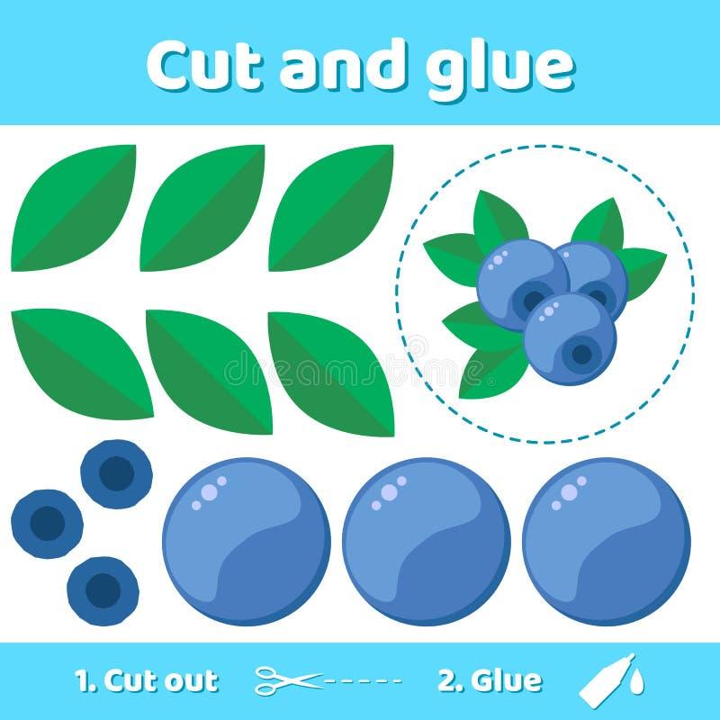 också vektor för coreldrawillustration Utbildningspapperslek för förskole- ungar Använd sax och lim för att skapa bilden stock illustrationer
