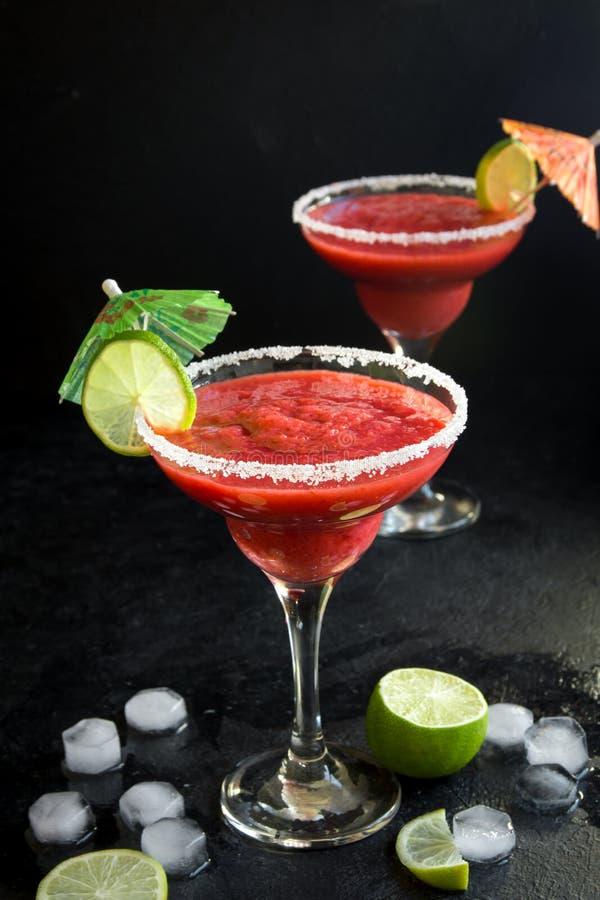 Ocktail för för jordgubbemargarita- eller Daiquiri Ð ¡ arkivfoton