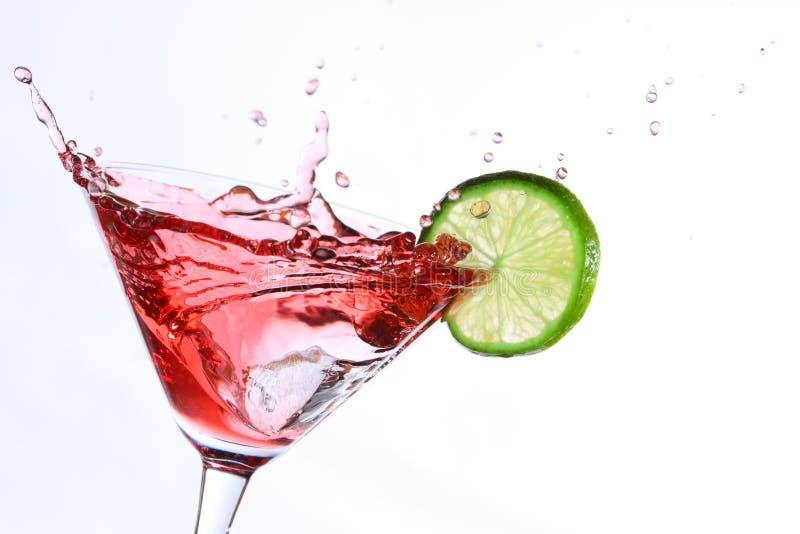 Ocktail met kalk royalty-vrije stock afbeelding