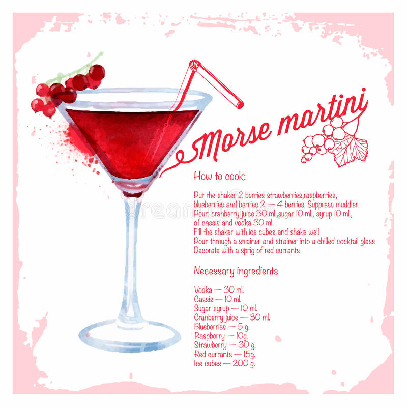 Ocktails Morse martini del ¡de Ð libre illustration