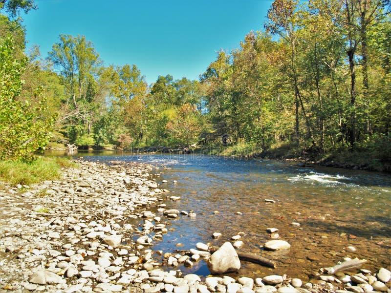 Oconaluftee rzeka zdjęcia stock