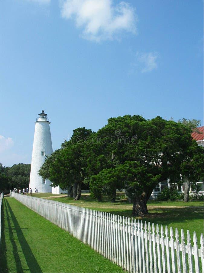 Ocracoke Leuchtturm lizenzfreies stockbild