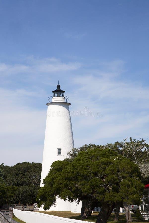 Ocracoke Leuchtturm lizenzfreies stockfoto