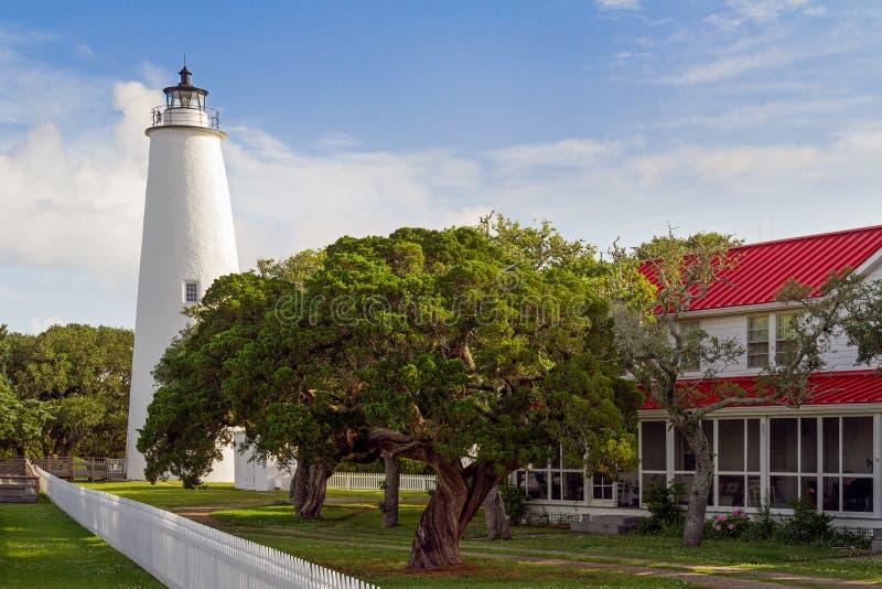 Ocracoke Lighthouse stock image