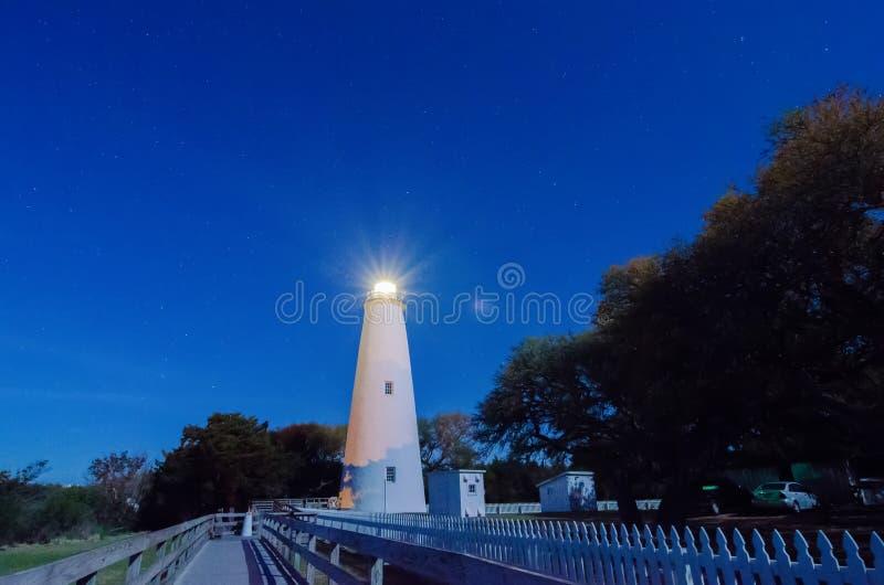 The Ocracoke Lighthouse on Ocracoke Island royalty free stock photos