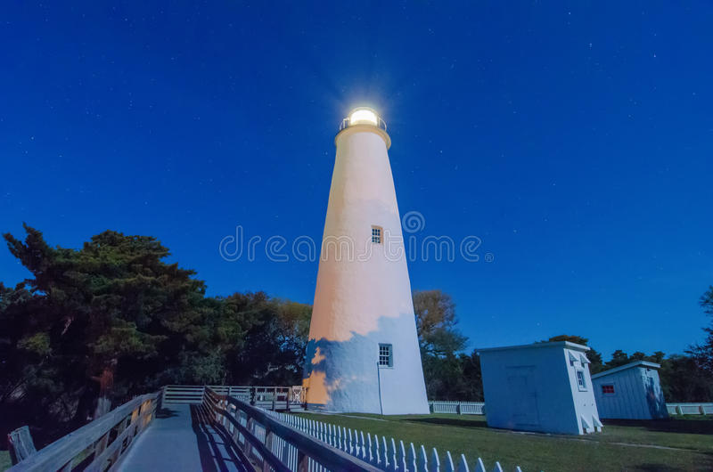 The Ocracoke Lighthouse on Ocracoke Island royalty free stock photo