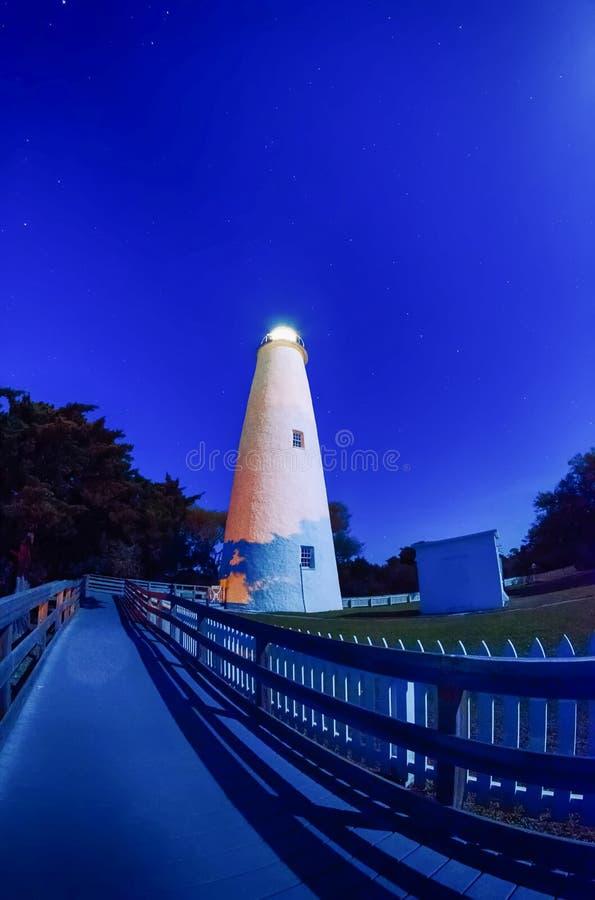 The Ocracoke Lighthouse on Ocracoke Island royalty free stock image