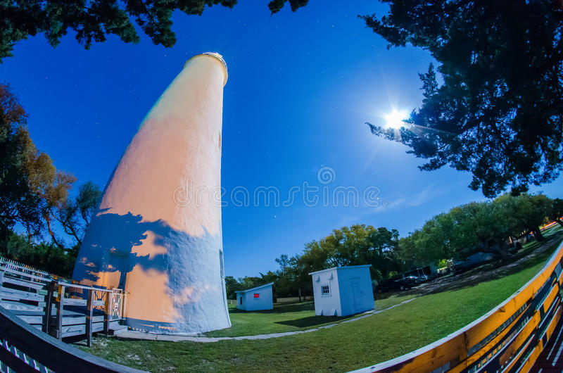 The Ocracoke Lighthouse on Ocracoke Island royalty free stock photography