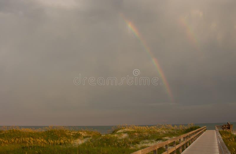 Ocracoke-Regenbogen stockfotografie