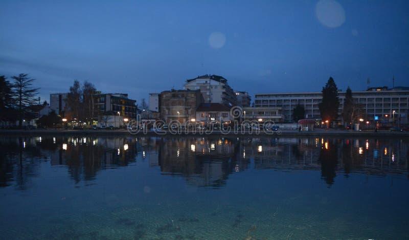 Ocrida - la perla del lago fotografia stock libera da diritti