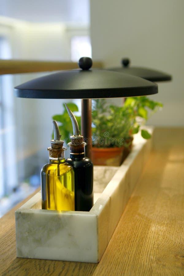 octów świeżych ziele nafciany oliwny ocet fotografia stock