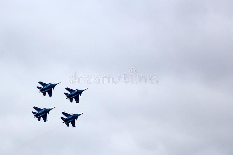 21 Oct 2017. Izhevsk, Russia Airshow in the city. Outdoors stock images