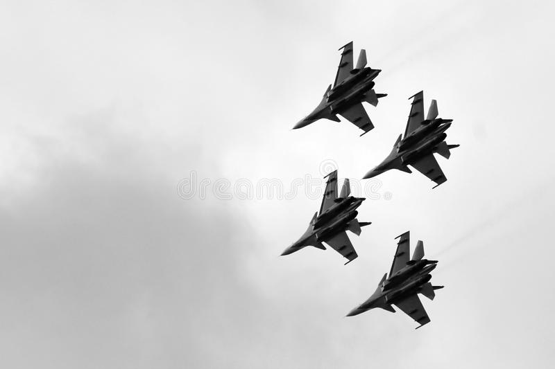 21 Oct 2017. Izhevsk, Russia Airshow in the city. Outdoors stock photography