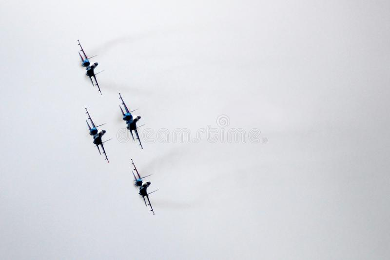 21 Oct 2017. Izhevsk, Russia Airshow in the city. Outdoors stock photo