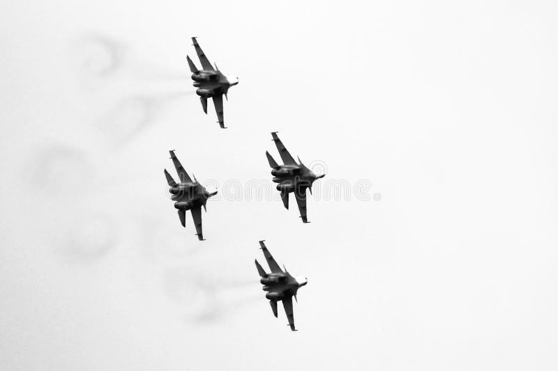 21 Oct 2017. Izhevsk, Russia Airshow in the city. Outdoors royalty free stock images