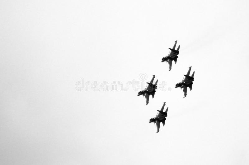 21 Oct 2017. Izhevsk, Russia Airshow in the city. Outdoors stock image