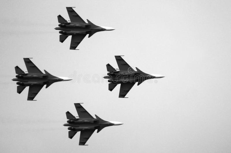 21 Oct 2017. Izhevsk, Russia Airshow in the city. Outdoors royalty free stock photos