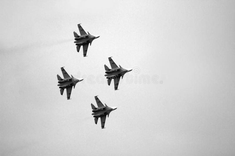 21 Oct 2017. Izhevsk, Russia Airshow in the city. Outdoors royalty free stock image