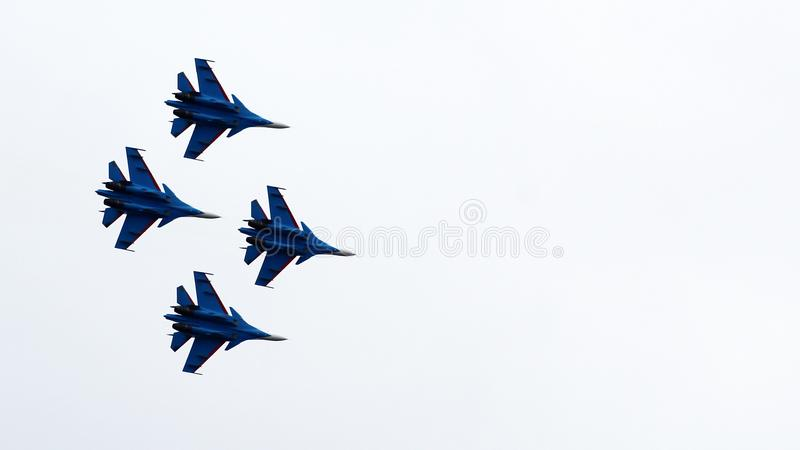 21 Oct 2017. Izhevsk, Russia Airshow in the city. Outdoors royalty free stock photography