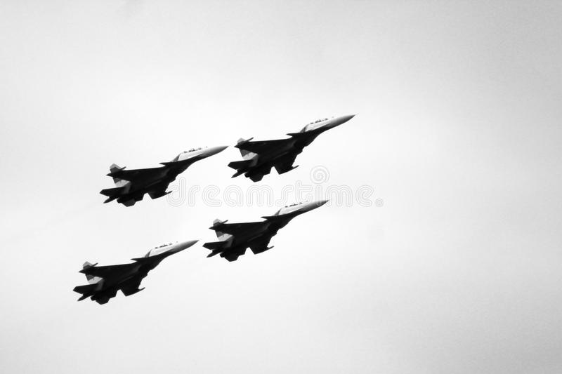 21 Oct 2017. Izhevsk, Russia Airshow in the city. Outdoors royalty free stock photo