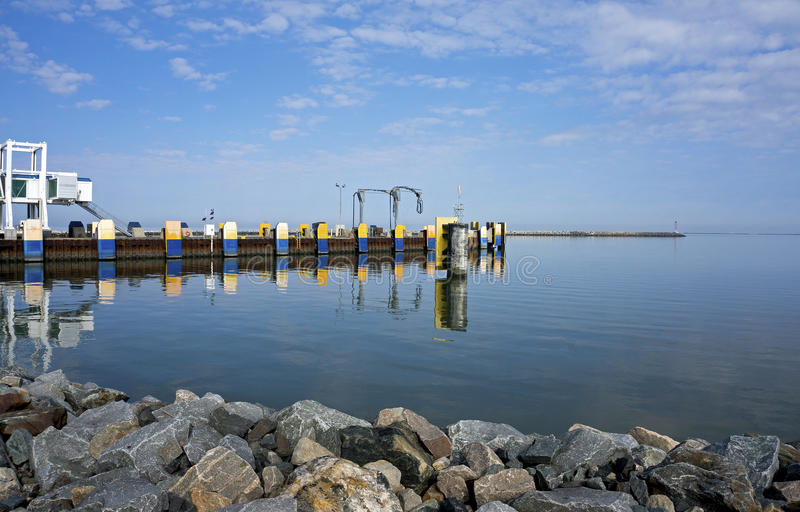 Oct 7, 2015 Lewes Delaware: Ferry dock at Lewes Delaware. Lewes Delaware ferry dock waits in calm water for the Cape Henlopen ferry boat to arrive from Cape May royalty free stock images