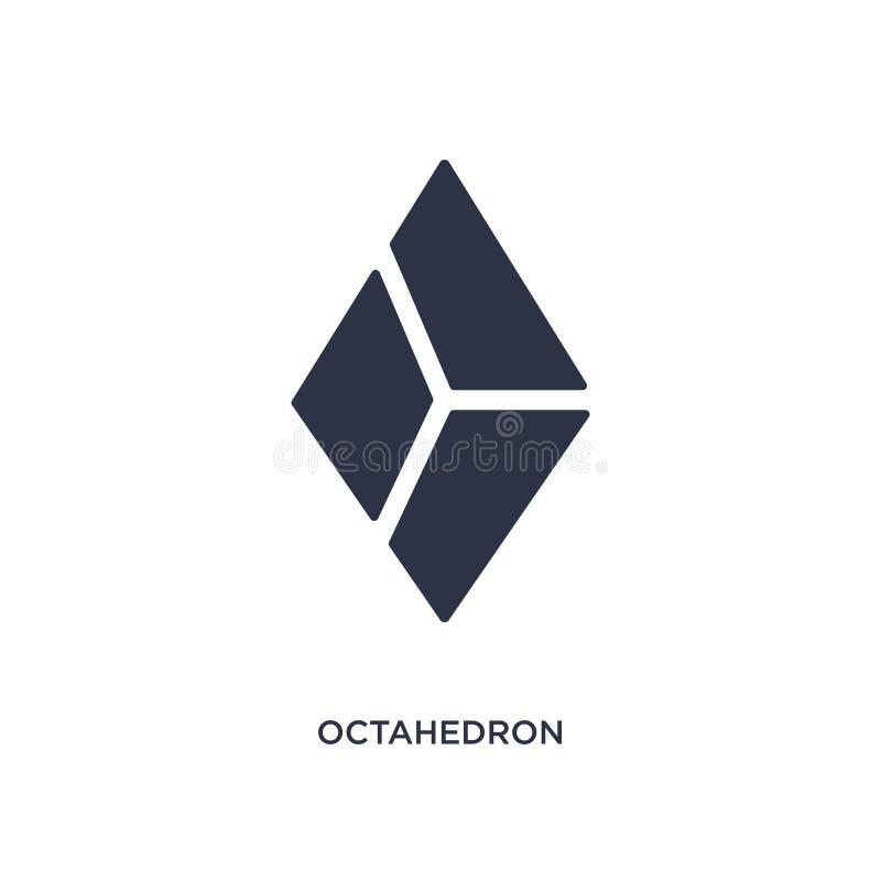 octaëderpictogram op witte achtergrond Eenvoudige elementenillustratie van meetkundeconcept vector illustratie