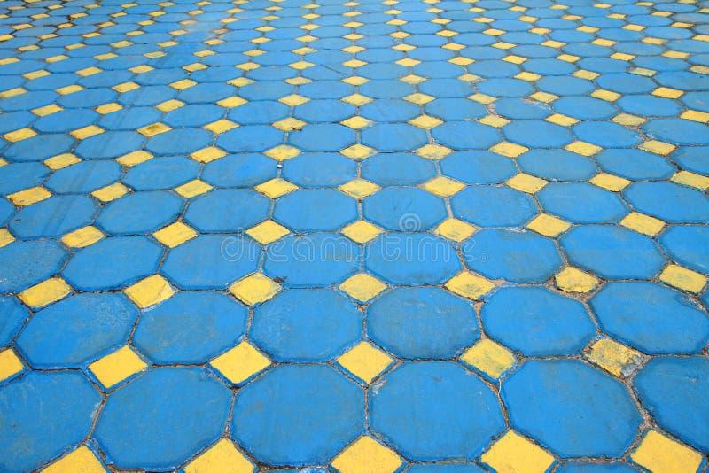Octagon brick floor tile
