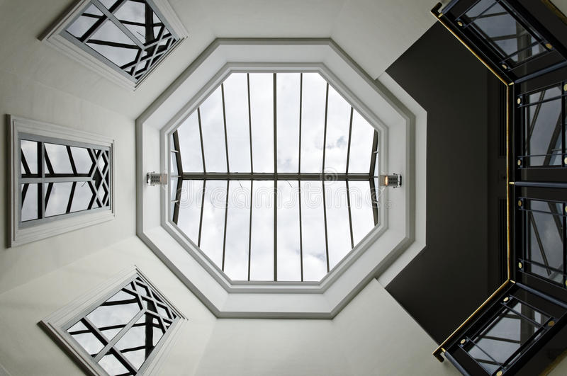 Download Octagon glass ceiling stock photo. Image of architecture - 26647796