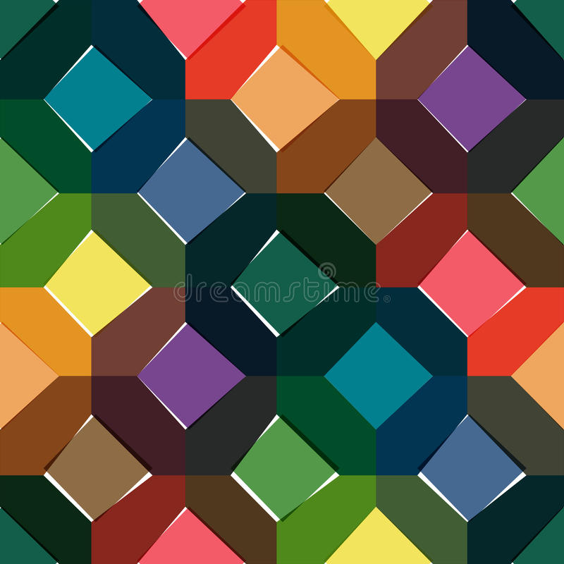Octagon seamless colorful pattern royalty free stock photos