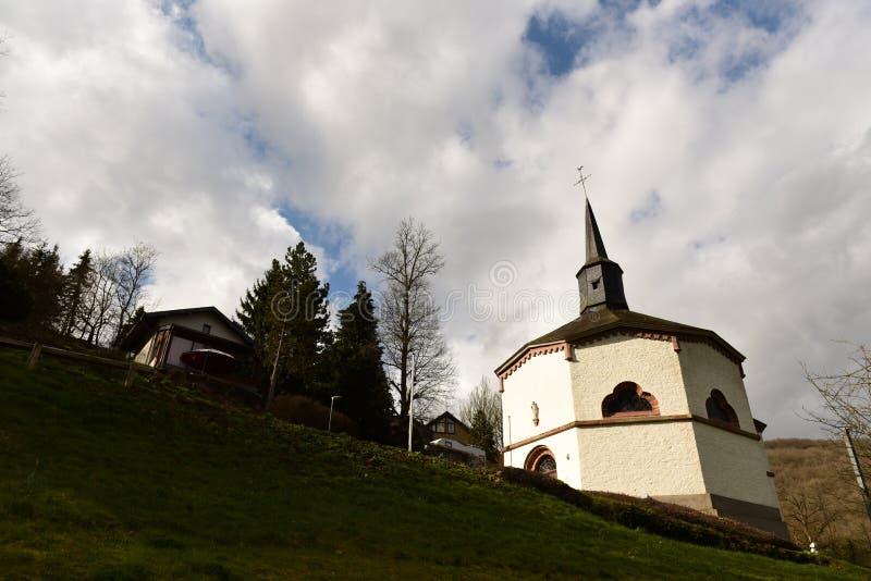 Octagonal chapel, Heiderscheidergrund, Luxembourg stock photos