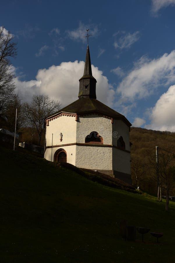 Octagonal chapel, Heiderscheidergrund, Luxembourg stock photo