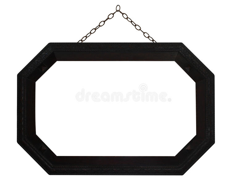 Octagonal Frame with Chain,. Isolated with clipping path royalty free stock photography