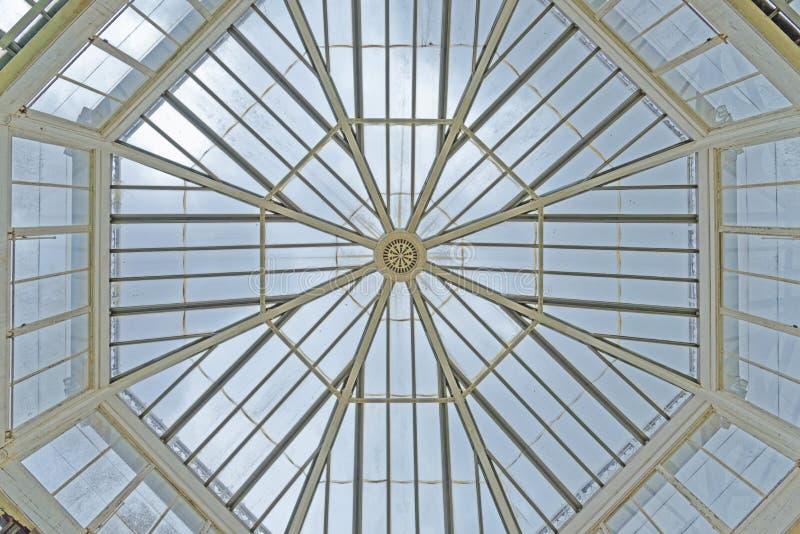 london kew gardens: Octagonal skylight royalty free stock image