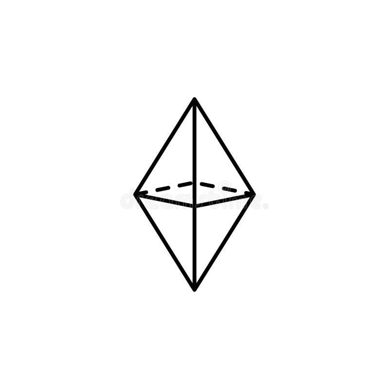 Octahedronikone Geometrische Zahl Element für bewegliche Konzept und Netz apps Dünne Linie Ikone für Websitedesign und Entwicklun vektor abbildung