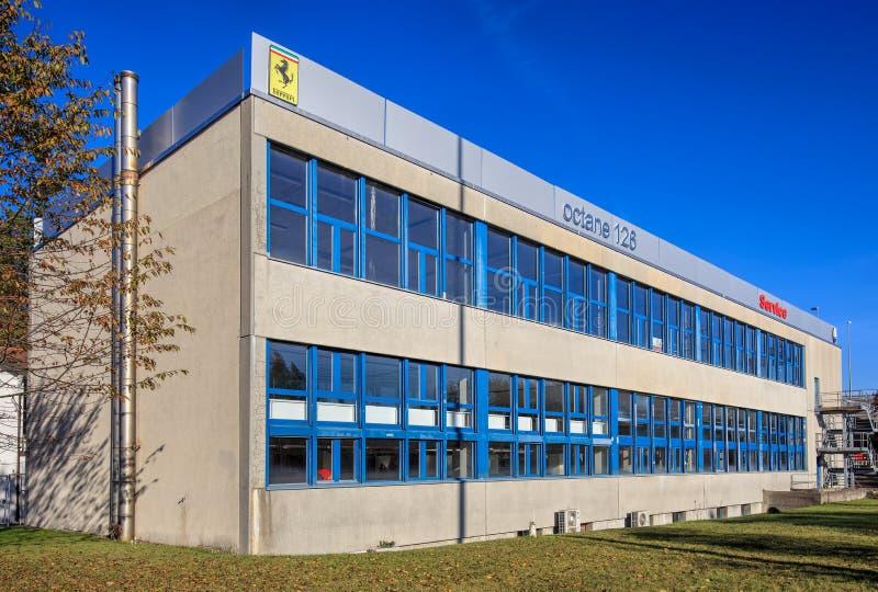 Octane 126 company building in Wallisellen, Switzerland. Wallisellen, Switzerland - 30 October, 2016: octane 126 company building. octane 126 AG is a company royalty free stock image