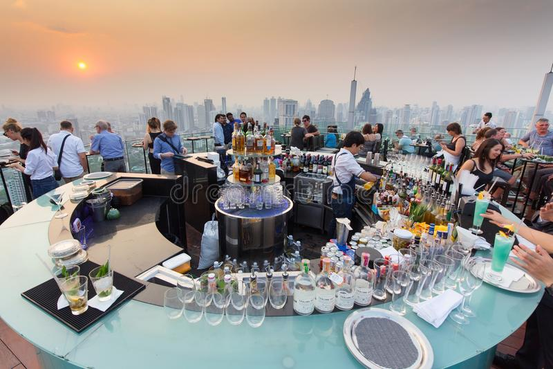 Download Octave Rooftop Bar In Bangkok Editorial Photo - Image of rooftop, architecture: 92472601