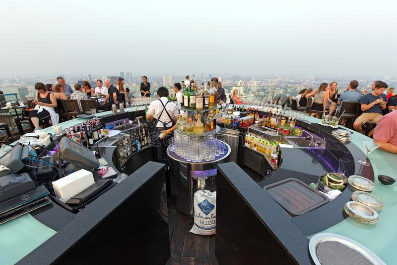 Download Octave Rooftop Bar In Bangkok Editorial Photo - Image of chic, panorama: 92867086
