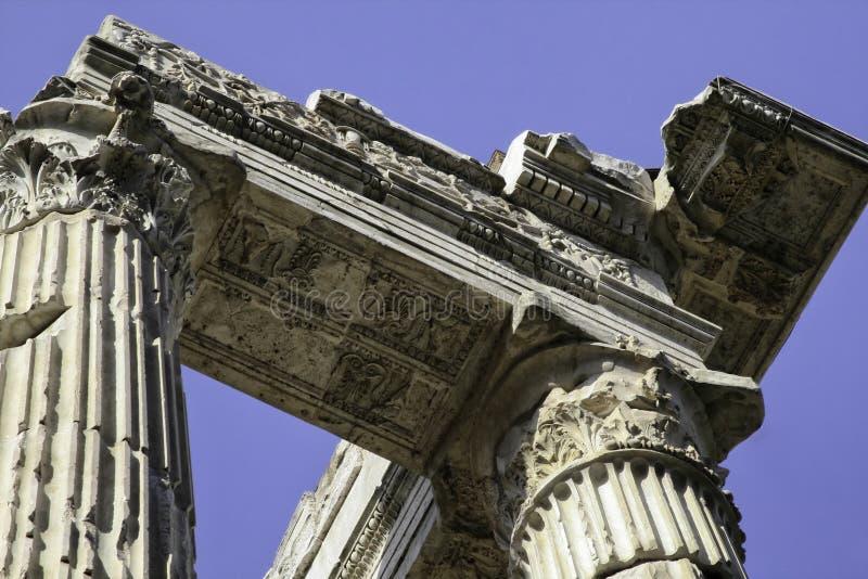 Octavia,罗马,意大利门廓  库存图片