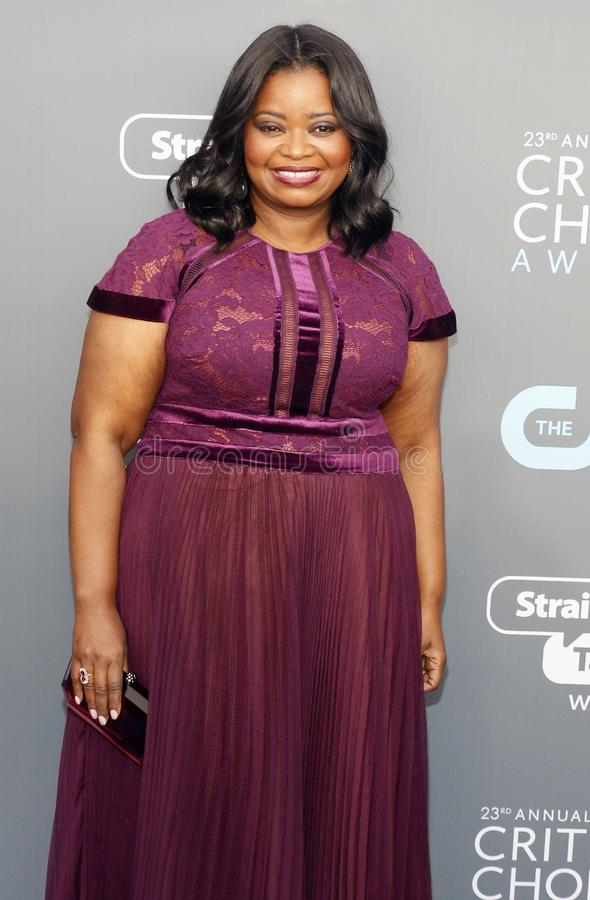Octavia Spencer. At the 23rd Annual Critics` Choice Awards held at the Barker Hangar in Santa Monica, USA on January 11, 2018 royalty free stock images