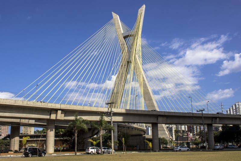 Octavio Frias Oliveira Bridge fotografia stock