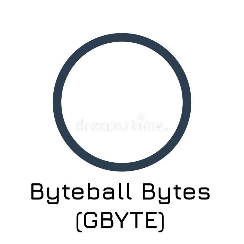 Octets G-octet de Byteball Crypte d'illustration de vecteur illustration stock