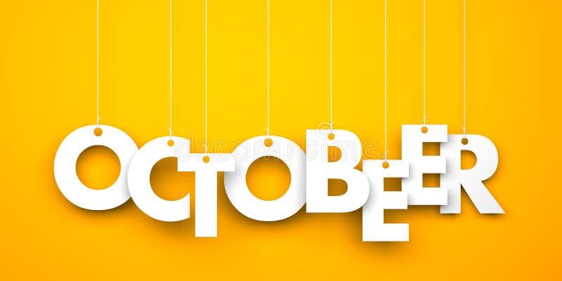OctoBEER. Octoberfest metaphor stock illustration