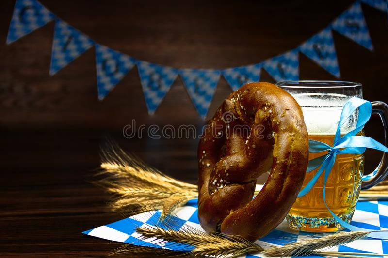 Ready for october beer festival in autumn october month in germany stock photo